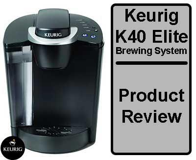 Includes Keurig K40 Elite Brewing System Keurig K Cup