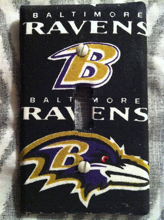 Baltimore Ravens Single Light Switch Cover by HochePotBoutique, $6.00