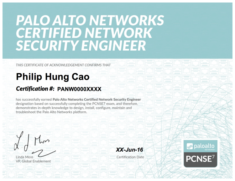 Palo Alto Networks Certified Network Security Engineer 7 Pcnse7