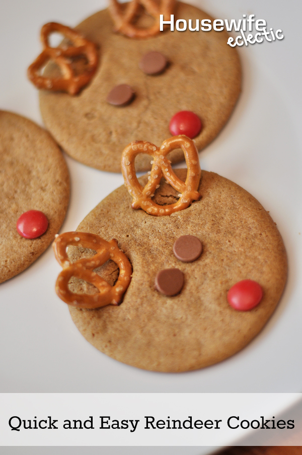 Quick And Easy Reindeer Cookies With Nestle Tollhouse Diy Ideas