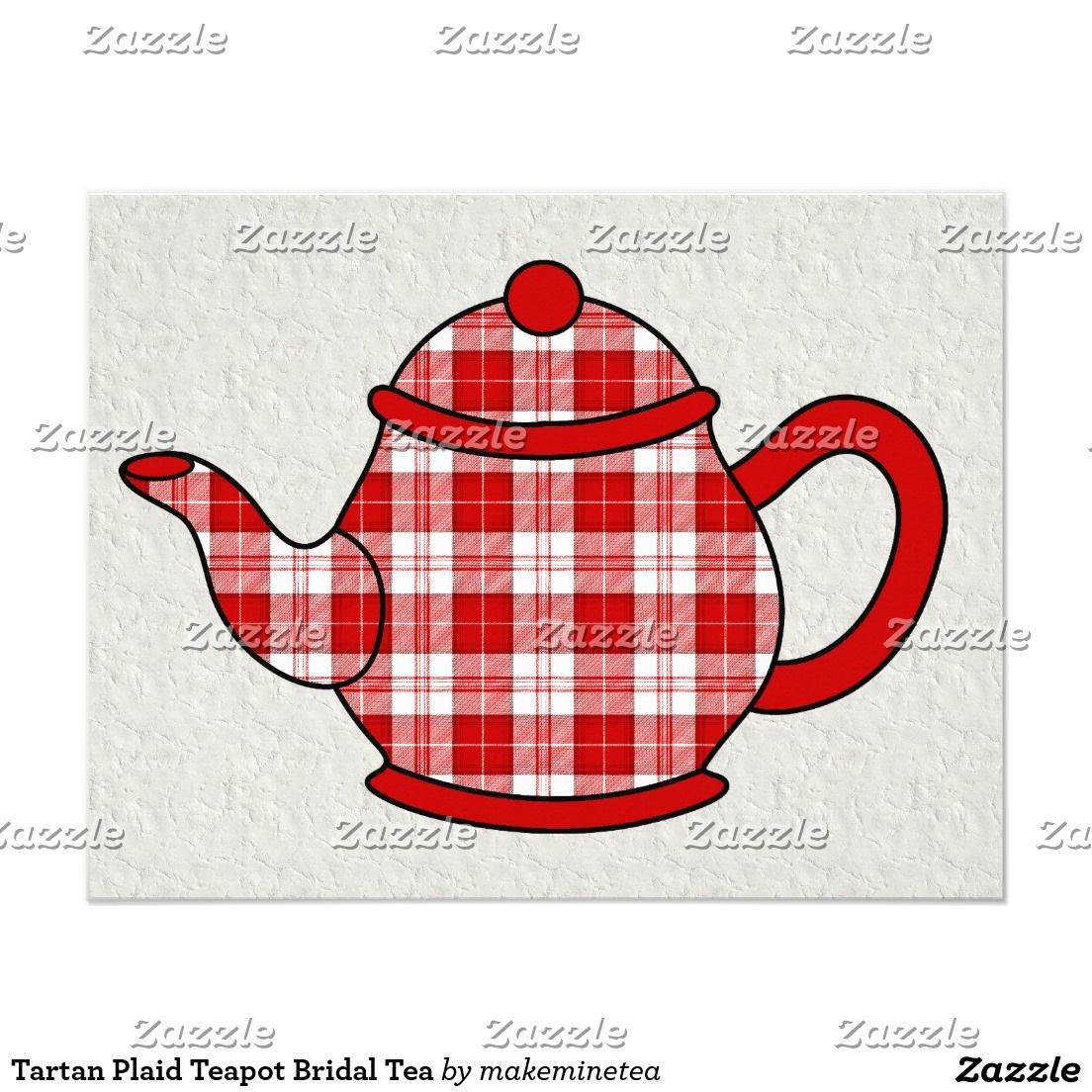 Tartan Plaid Teapot Bridal Tea | TARTAN WEDDING Invitations ...