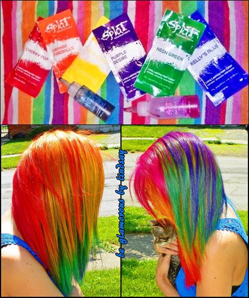 rainbowhair beglamorousbylindsay splathaircolor Splat