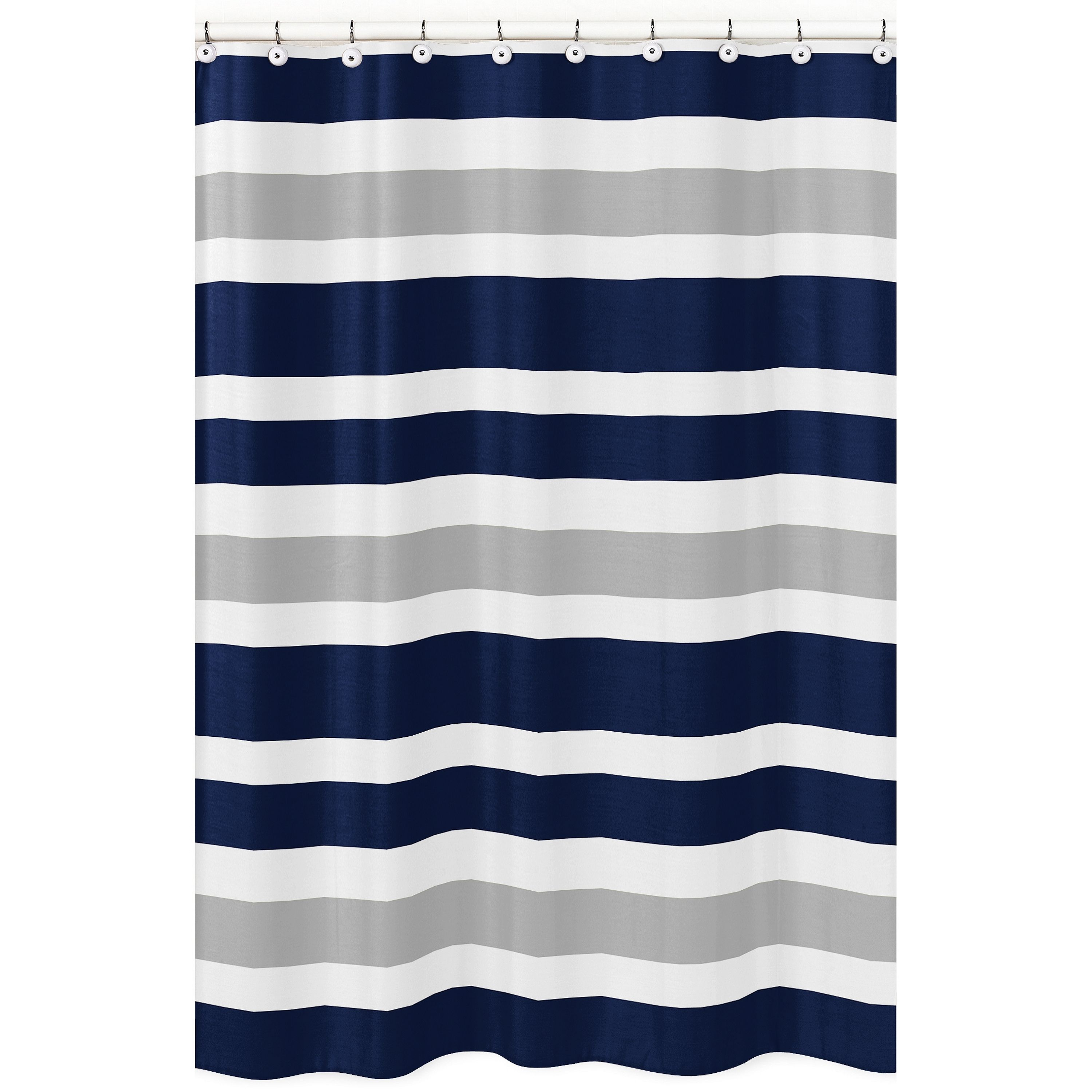 Navy Blue And Gray Stripe Shower Curtain Gray Navy Blue And White Sweet Jojo Designs Gray Shower Curtains Striped Shower Curtains Blue Shower Curtains