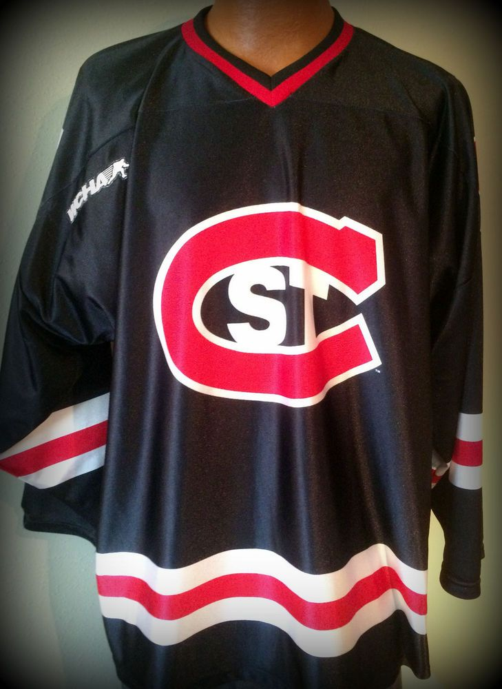 a06a7d9cc ST CLOUD STATE HUSKIES WCHA OT SPORTS ADULT 4XL XXXXL HOCKEY JERSEY FREE  SHIP  adidas  WisconsinBadgers