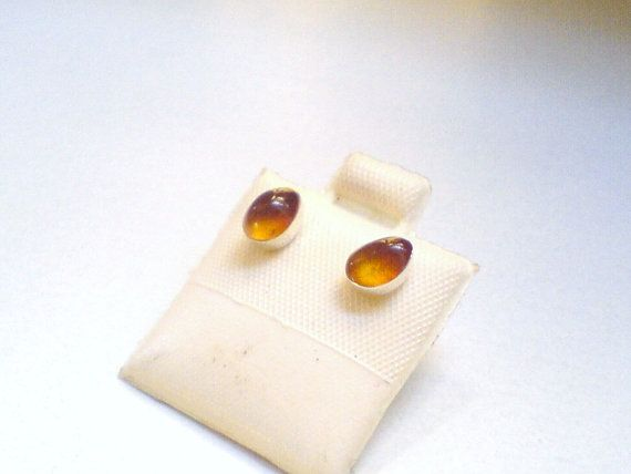 14f7ce5dc Dominican Amber studs Sterling silver 925 Honey Amber earrings. The Dominican  Amber teardrops are very