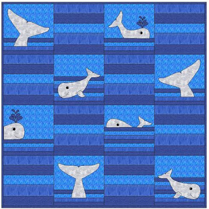Whale Tails Quilt Pattern Cls 118 Advanced Beginner Wall