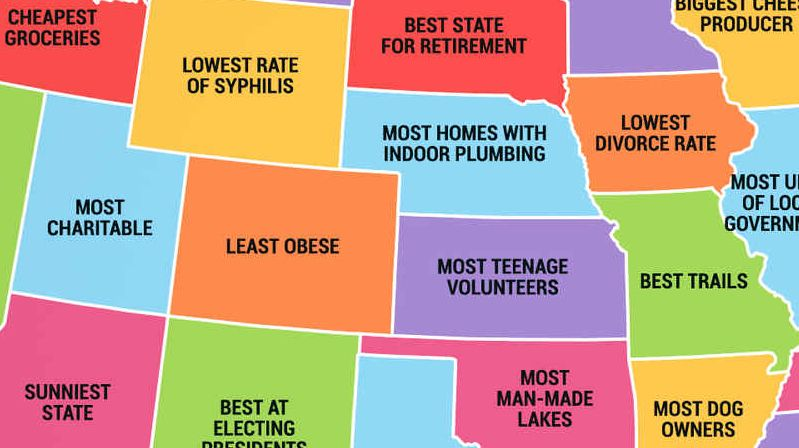The Best Of States The Worst Of States With Images Fun Things