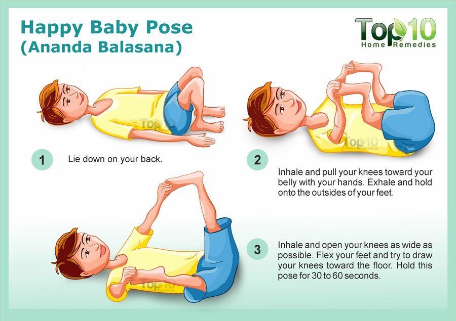 happy baby yoga pose | Summer | Pinterest | Baby yoga ...