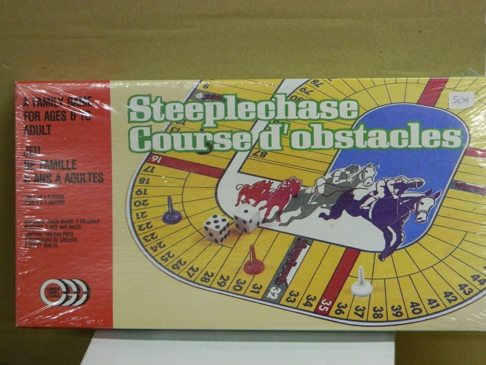 Vintage NOS STEEPLECHASE Board Game SEALED # 60104 2-4 Players Made Canada:    #CanadaGamesCompany