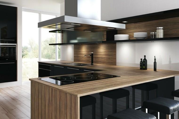 Kitchen Worktops Made Of Solid Wood For The Kitchen Decorationidea Plan De Travail Plan De Travail Stratifie Stratifie