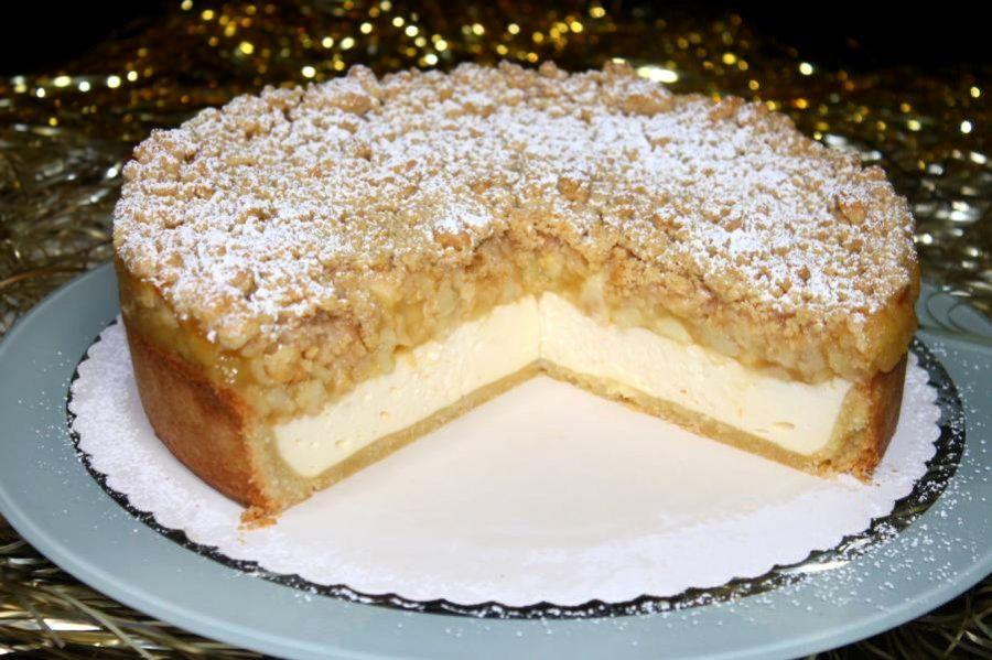 Zimtstreusel-Topfenkuchen mit Apfel