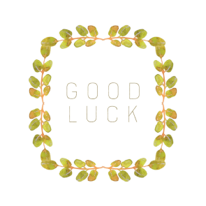 Lucky Wreath Good Luck Card Free Greetings Island Good Luck Cards Birthday Card Template Free Goodbye And Good Luck