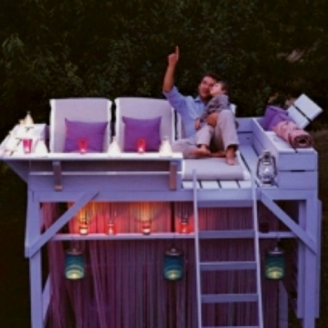 turn an old bunk bed into a stargazing loft retreat pool time pinterest. Black Bedroom Furniture Sets. Home Design Ideas