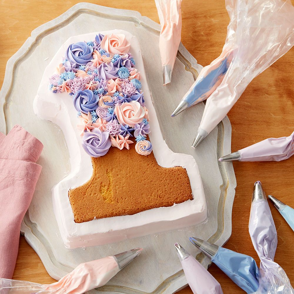 Blooming Number 1 Cake #numbercakes