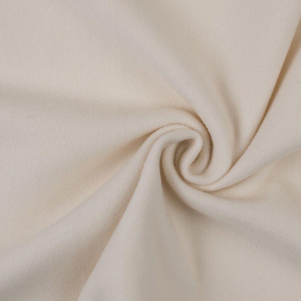 Italian Ivory Wool Blended Coating Mood Fabrics Cashmere Coat Wool