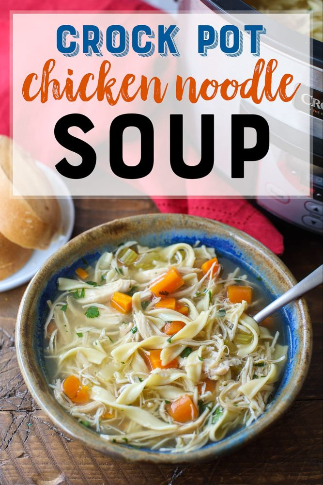 crock pot chicken noodle soup  recipe  best chicken