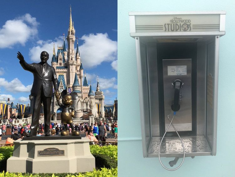There are oldschool telephones all over Disney World that