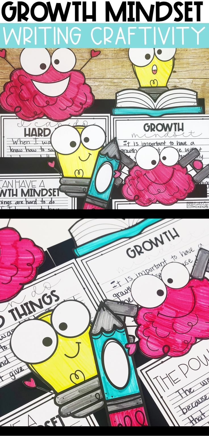 Growth mindset writing craftivity growth mindset