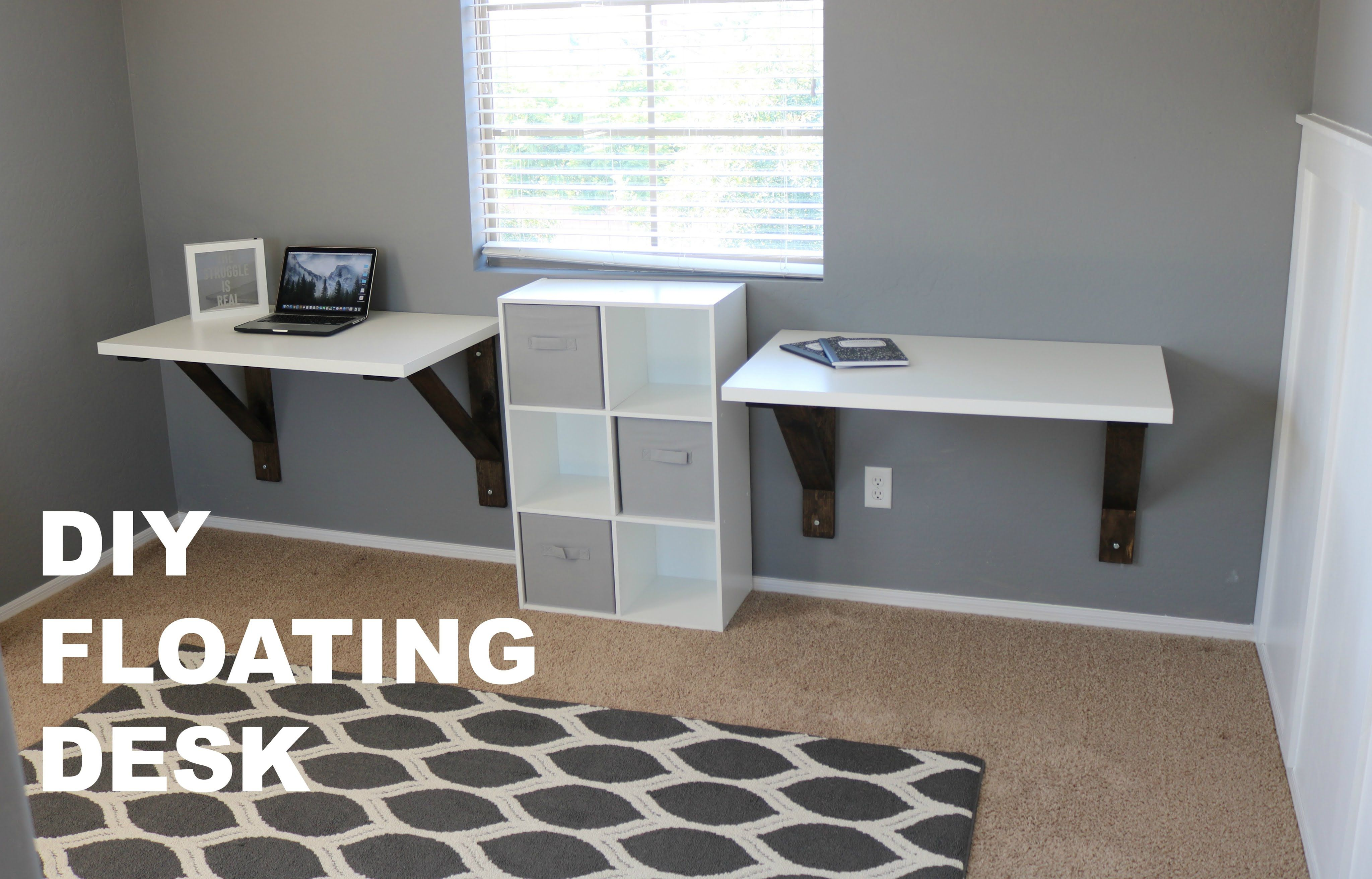 This Was My Build Of The Custom Floating Desks For My Home Office I Could Not Find Anything In Stores That I L Ikea Floating Desk Kids Rooms Diy Floating Desk