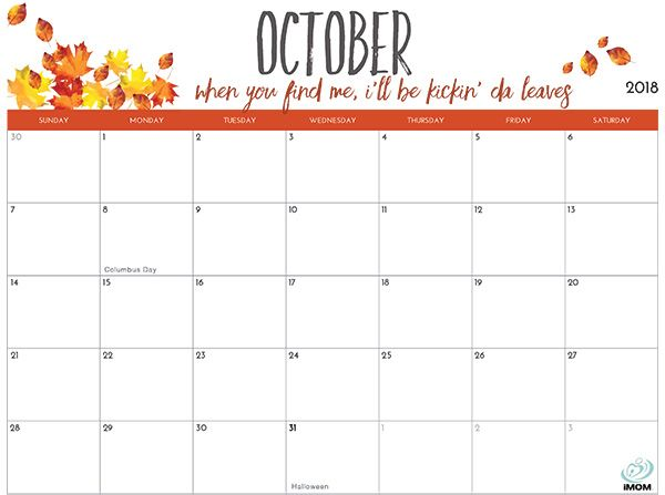 2020 And 2021 Printable Calendars For Moms Imom October Calendar Calendar 2019 Printable 2018 Printable Calendar