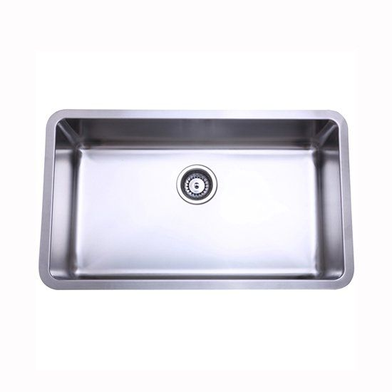 Gourmetier Ku311810bn Stainless Steel Undermount Kitchen Sink Brushed Nickel Lowe S Ca Single Bowl Kitchen Sink Stainless Steel Kitchen Sink Undermount Sink
