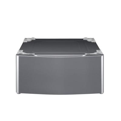 Lg Electronics 29 In Laundry Pedestal With Storage Drawer For Washers And Dryers In Graphite Steel Wdp5v Laundry Pedestal Washer And Dryer Pedestal Storage Drawers