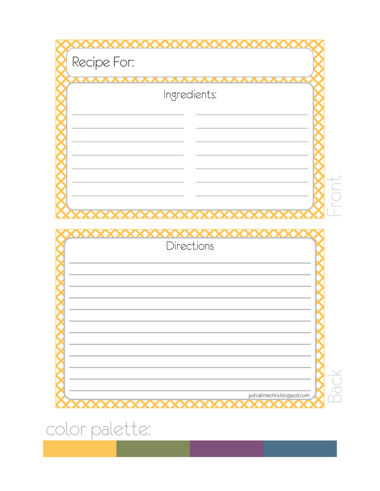 Free Printable Recipe Card Template This Can Be So Exciting Get