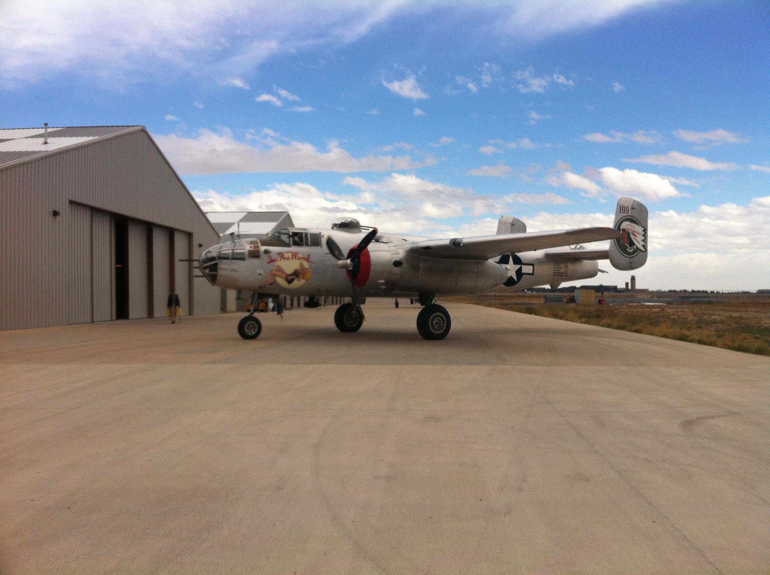 B25 Mitchell on display at National Museum of World War