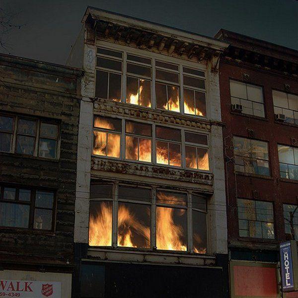 Art Installation Looks Like Burning Building Fire Art Installation Art Video Installation