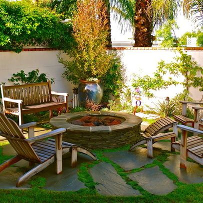 concept stones in grass raised pit landscaping around a on best large backyard ideas with attractive fire pit on a budget id=11752