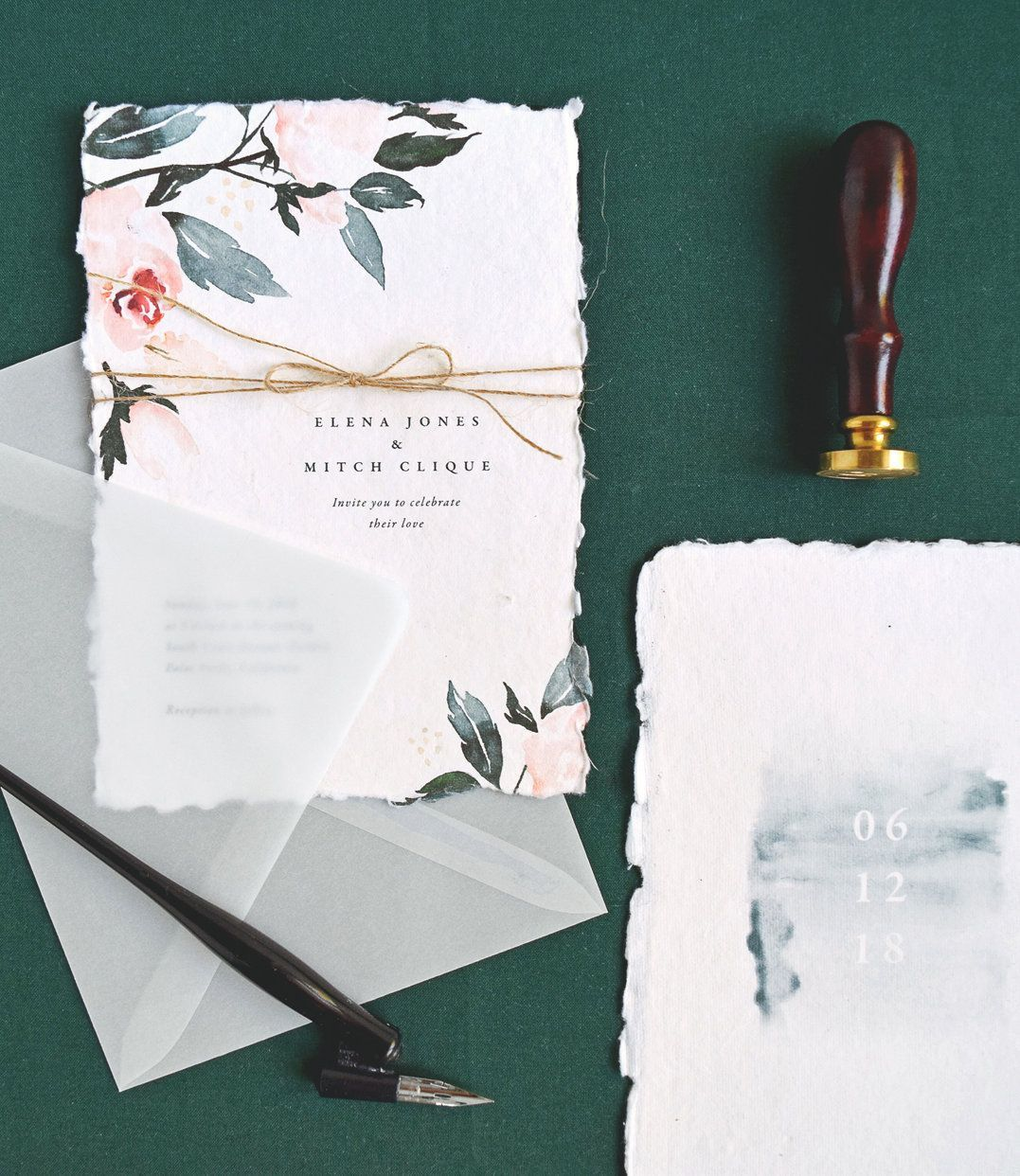 Flora wedding invitations, Rachel Marvin Creative, rsvp card ...