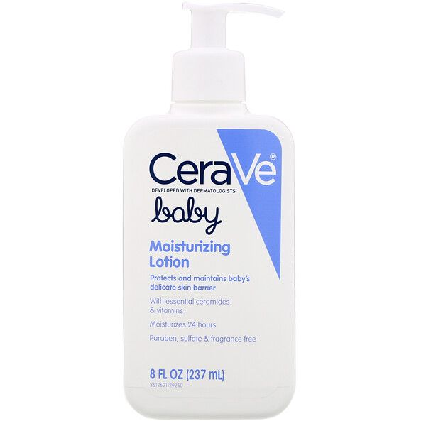Developed With Pediatric Dermatologists Cerave Baby Moisturizing Lotion Is A Patented Formulation Con In 2020 Moisturizing Lotions Fragrance Free Products Moisturizer
