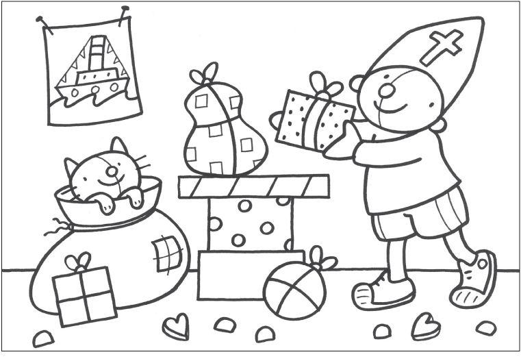 Kleurplaten Uk En Puk.Uk En Puk Kleurplaten Sinterklaas Kleurplaat Pompom Sinterklaas