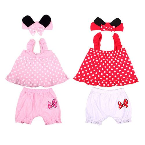 3pcs Girl Baby Infant Headband TOP Pants Bloomers T Shirt Outfit Clothes 0 18M | eBay