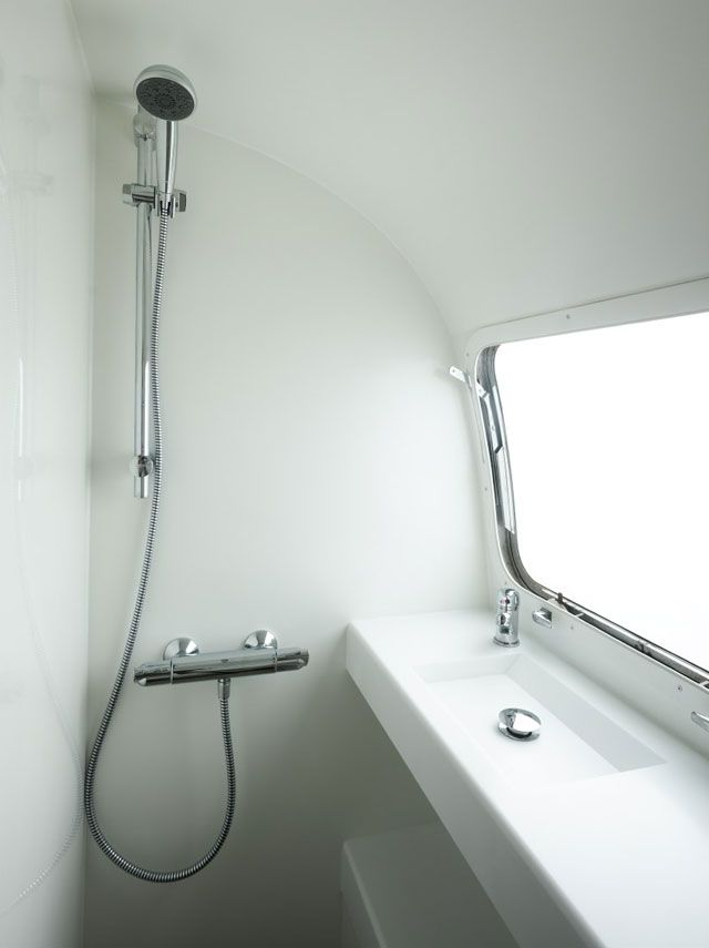 Beautifully Minimalist Airstream Bathroom From Arcairstreamscouk Gorgeous Airstream Interior Design Minimalist