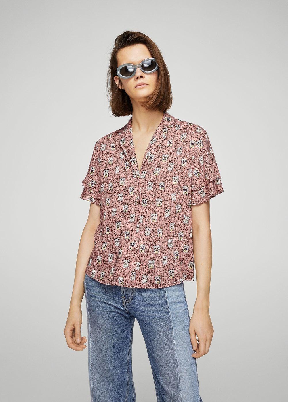 Camisa estampada - Camisas de Mujer | Camisas estampadas, Camisas ...