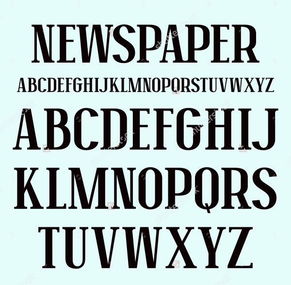 10 Newspaper Fonts Otf Ttf Download Vector Quotes Text Bubble Text Icons