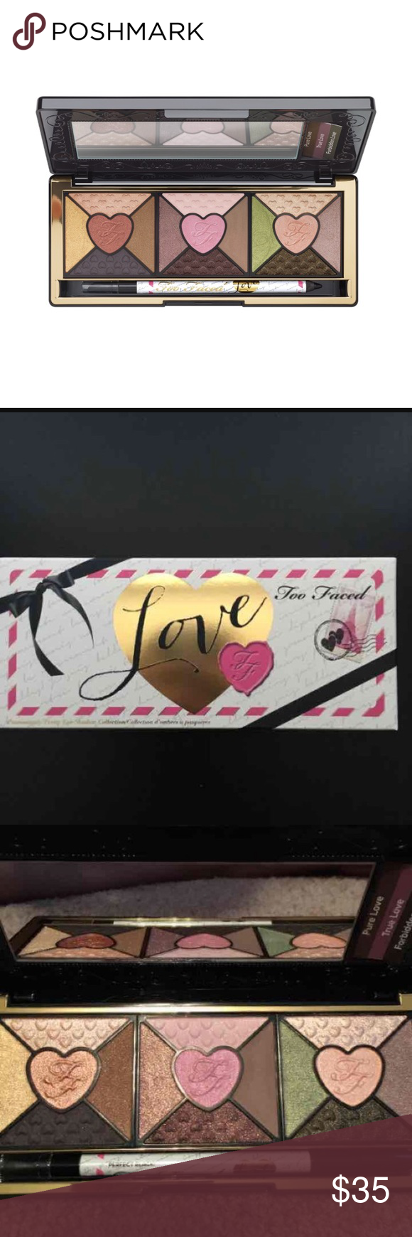 Too Faced Love Palette New eyeshadow palette with full