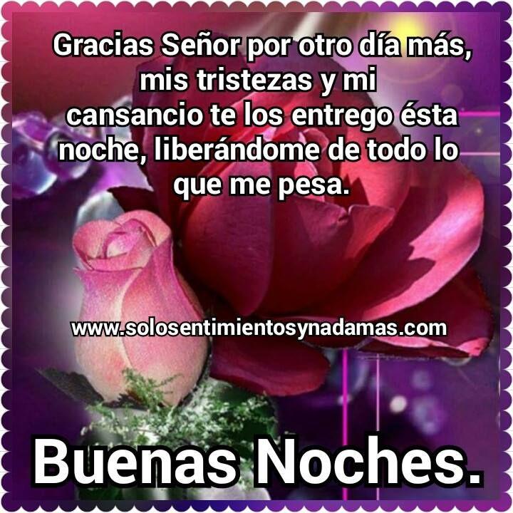Buenas Noches Gracias Dios Por Otro Dia Mas Buenas Noches