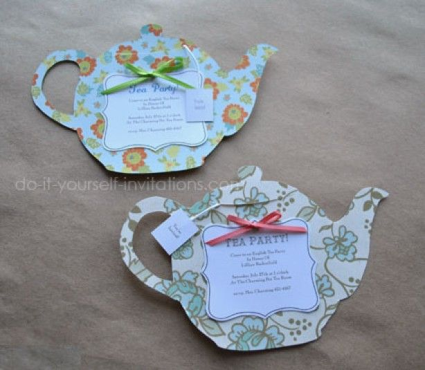 Leuk voor een high tea feestje party party party pinterest tea party invitation but different paper filmwisefo Gallery