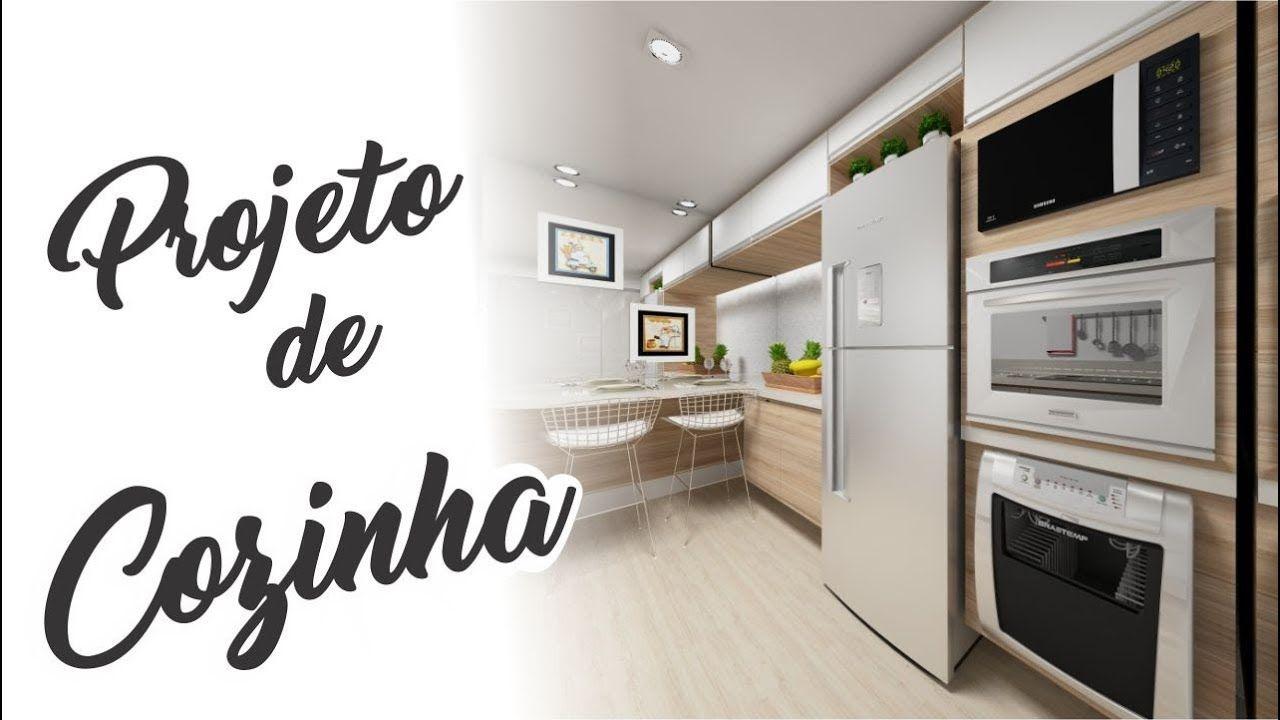 V Deo De Projeto De Cozinha Cozinha Pequena Projetodecazinha