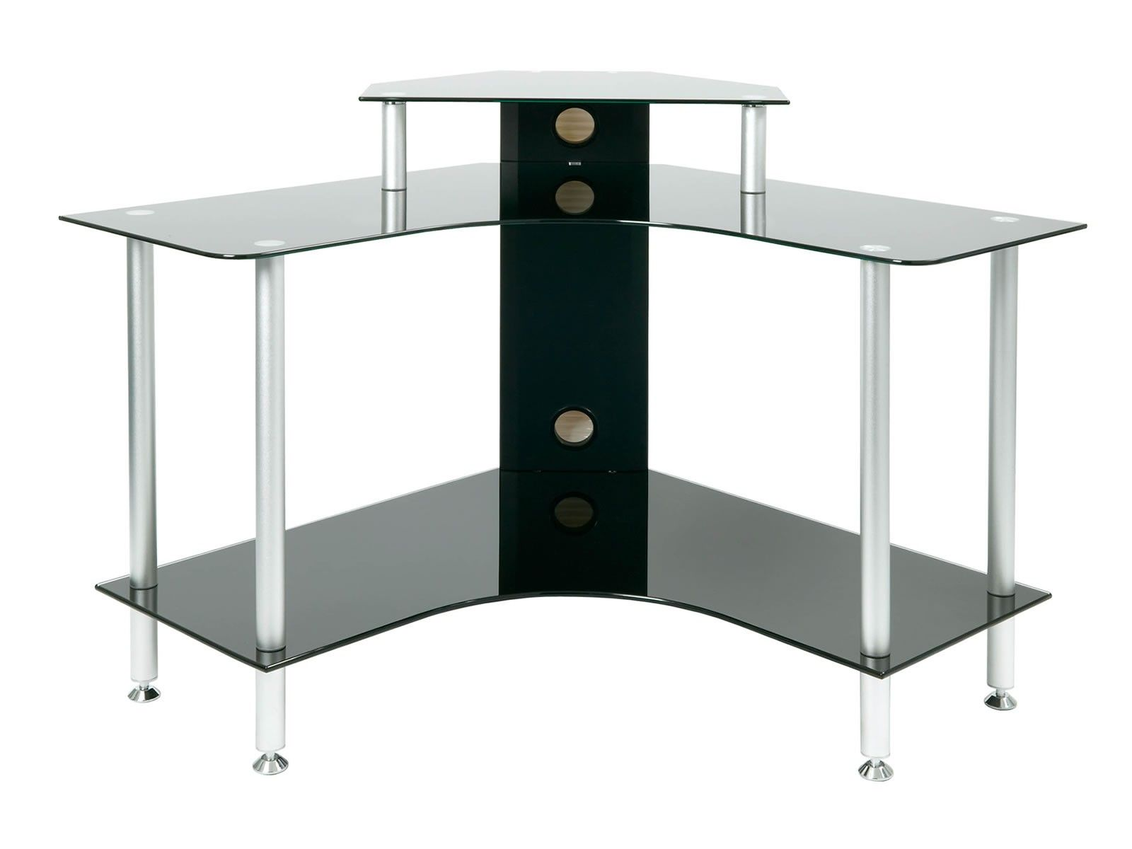 Jual Furnishings Pc004 Black Glass Corner Desk Desk Furniture Computer Desks For Home Home Office Furniture Sets