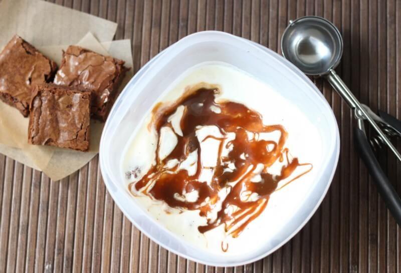 Brownie Caramel Swirl Ice Cream - Spoonful of Flavor