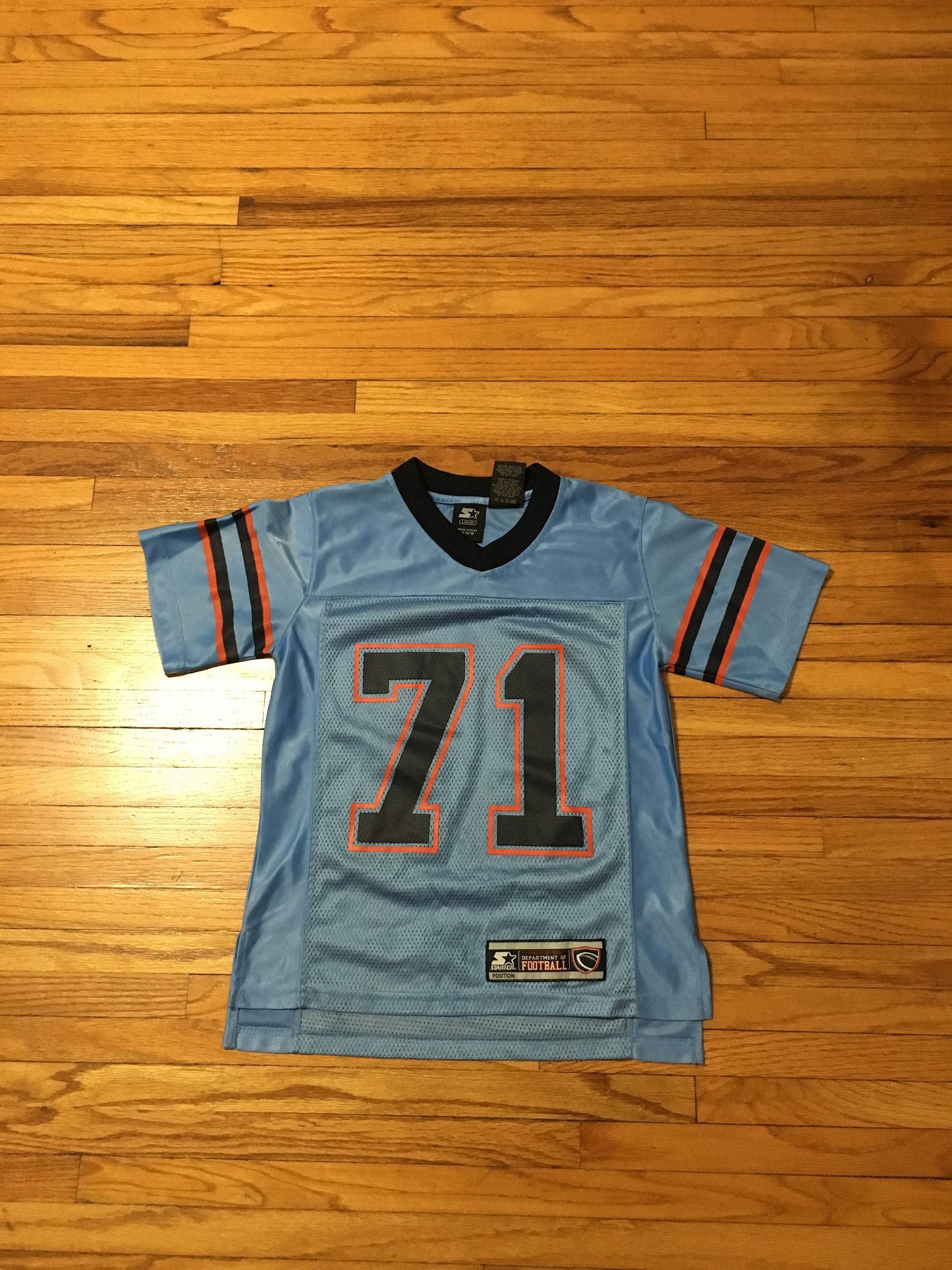 Vintage 90 s Starter Light Blue Number 71 Football Jersey Women s Small  (free shipping) by 09f2269f40