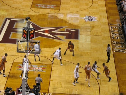 Texas A M Aggies Basketball Court Is
