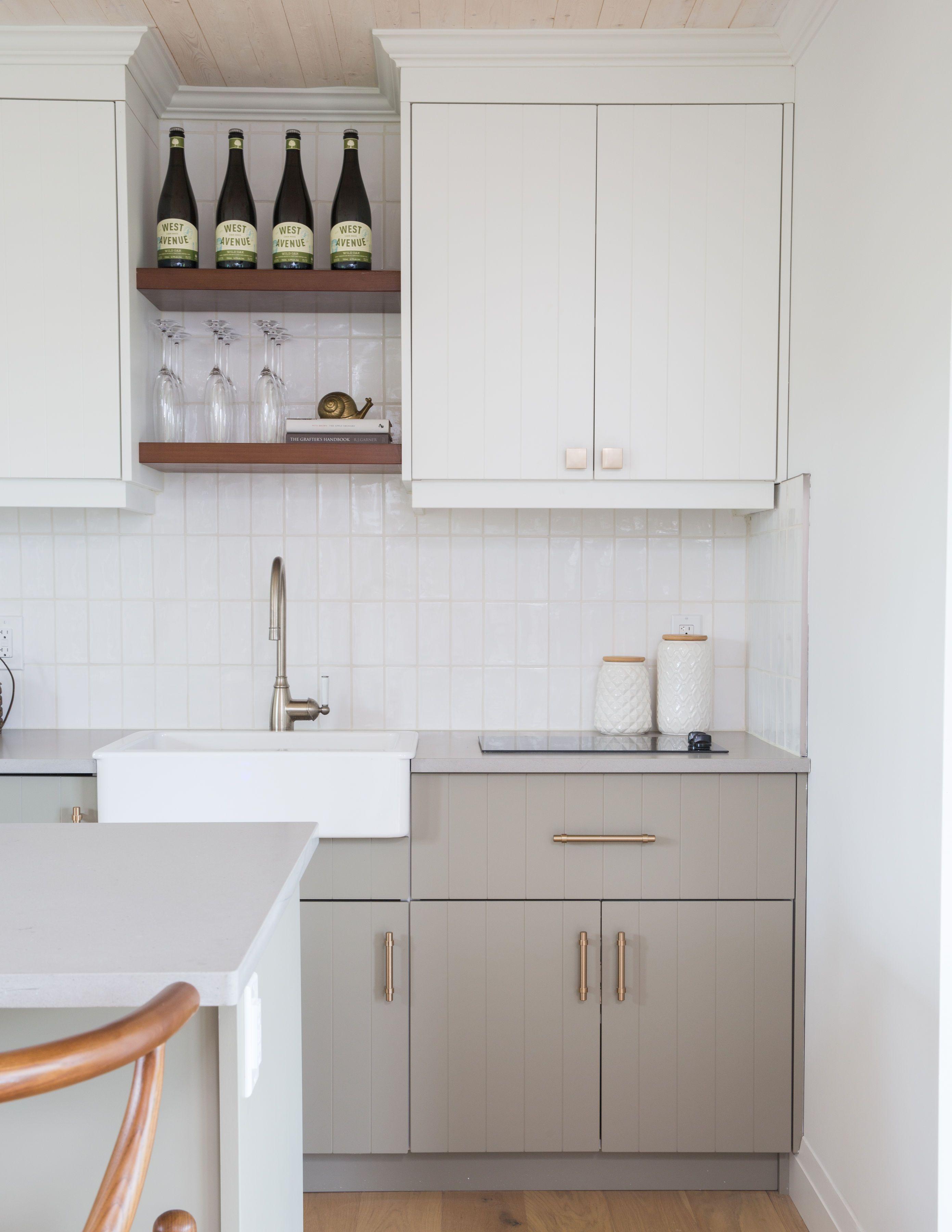 Charming Cozy Cabin With Modern Beadboard Doors Beadboard Kitchen Beadboard Kitchen Cabinets Kitchen Renovation
