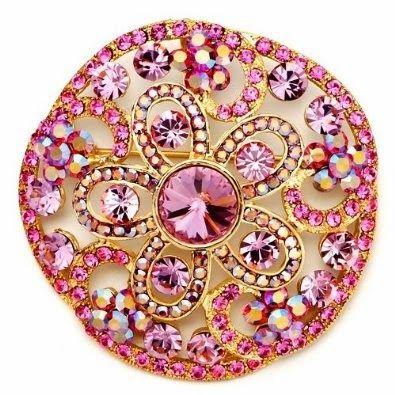 Sparkling flower brooch