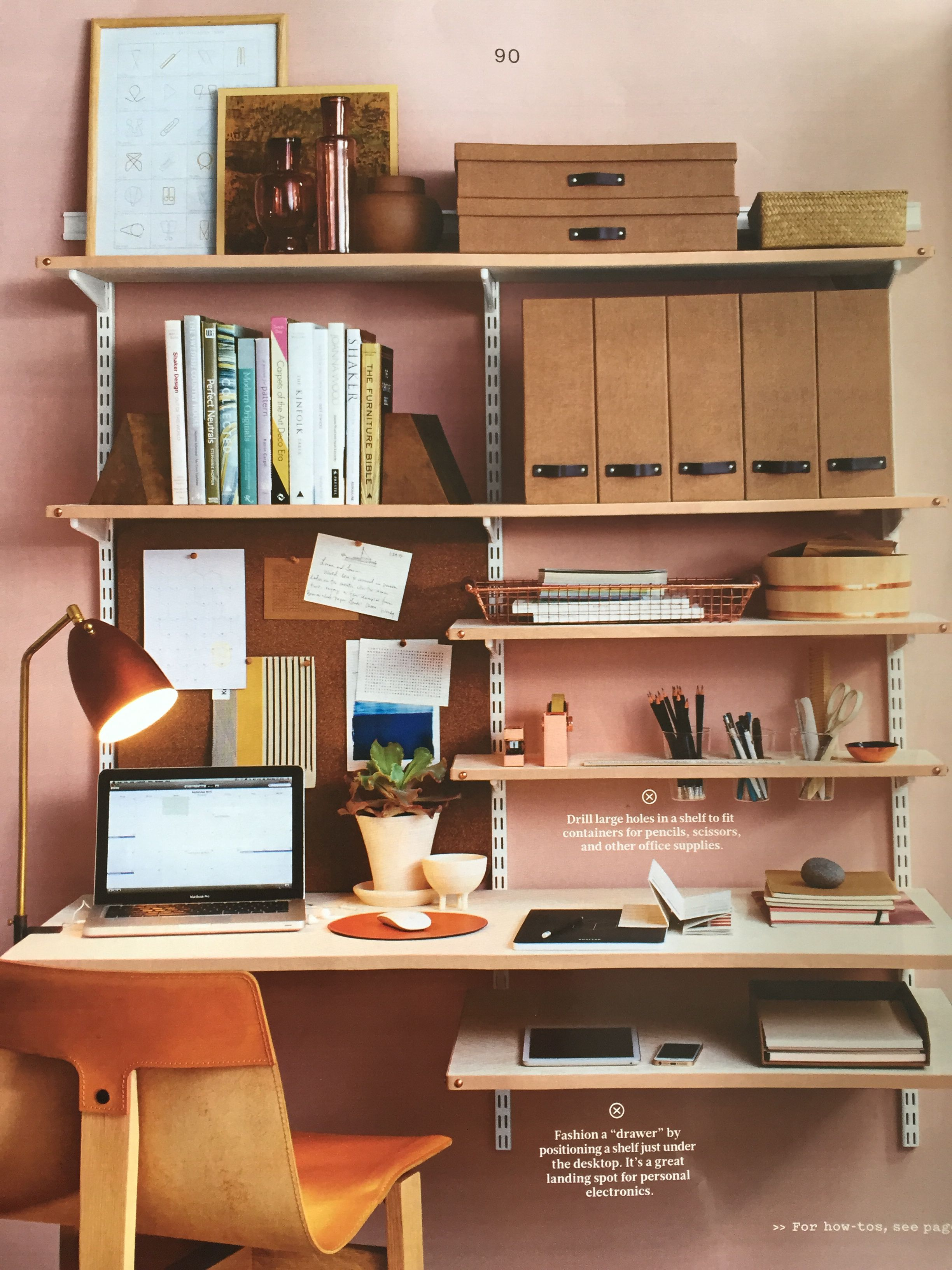 Adjustable Shelves Creates An Orderly Home Office Adjustable