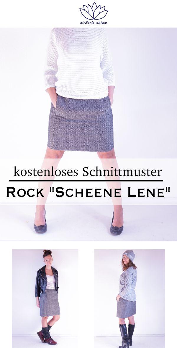 """kostenloses Schnittmuster Rock """"Scheene Lene"""" für einfach nähen Premium-Mitglieder"""