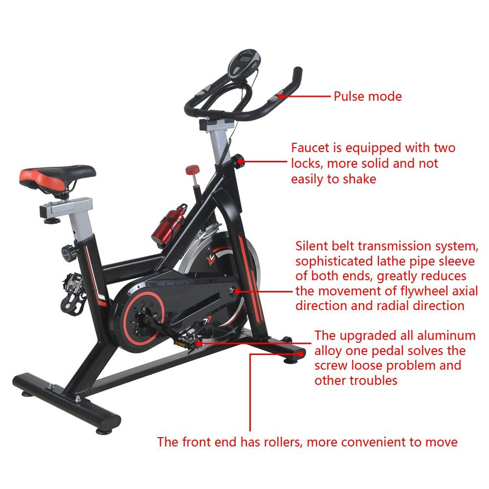 SHUTAO 15KG Flywheel Office Home Indoor Fitness Spinning